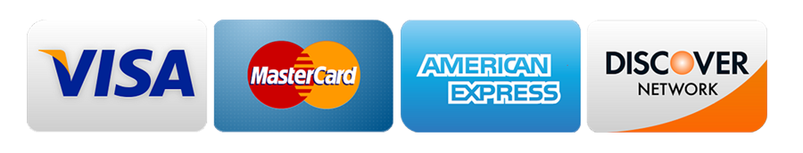 accepted credit cards visa mastercard discover amex